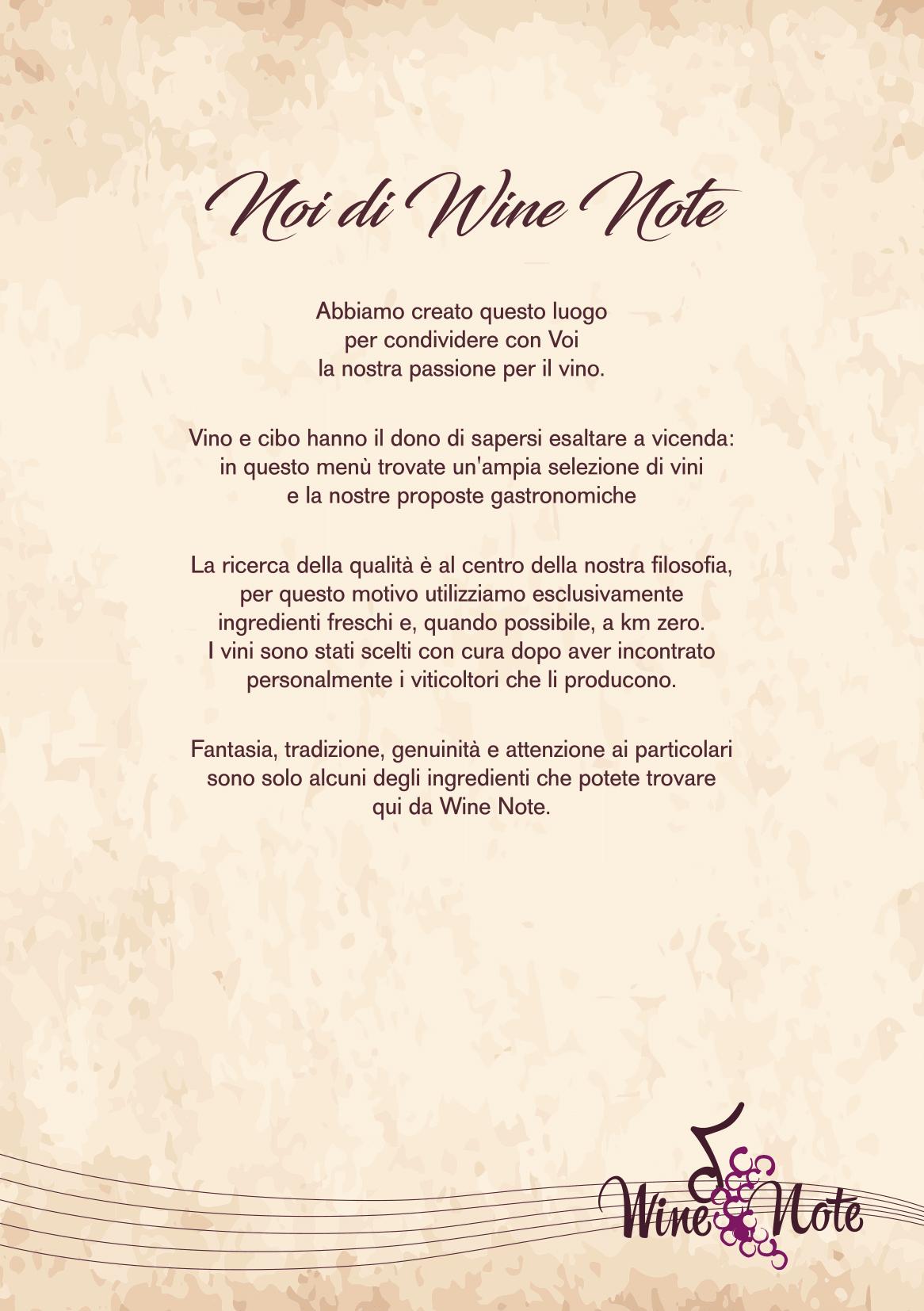 Wine note menu e vini A5-02