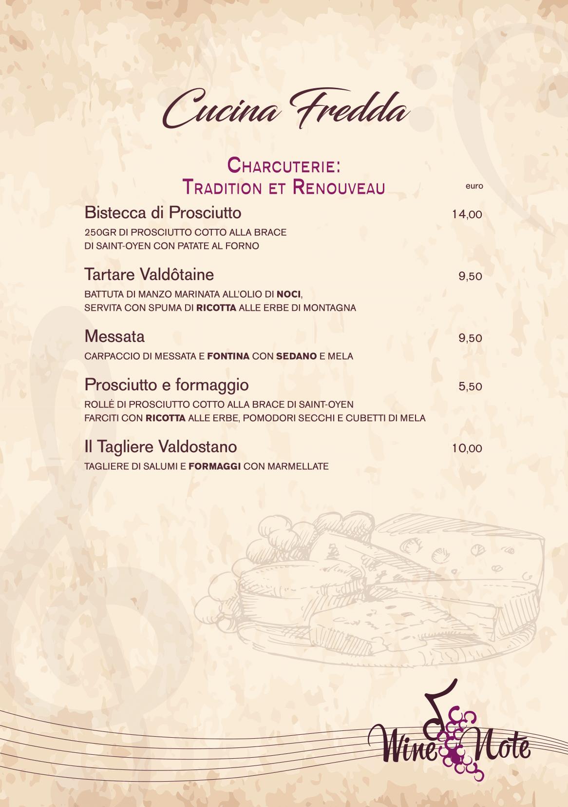 Wine note menu e vini A5-03