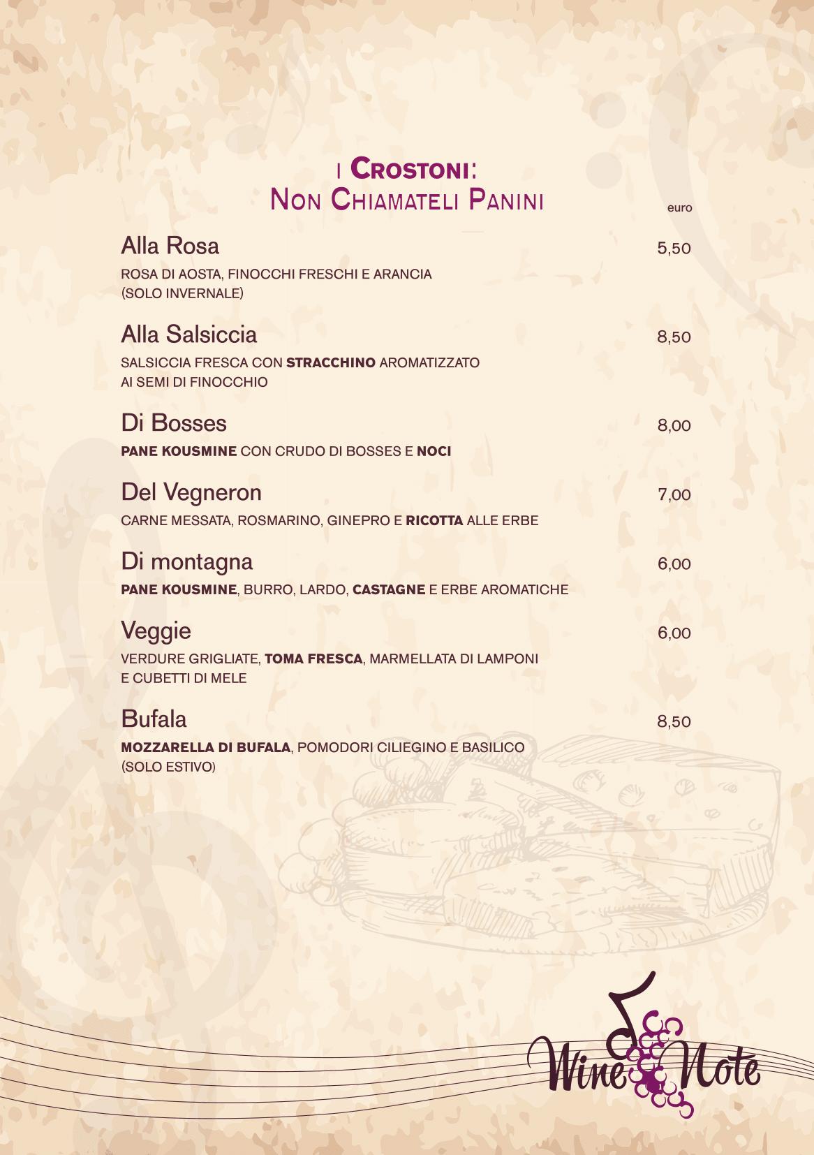 Wine note menu e vini A5-04