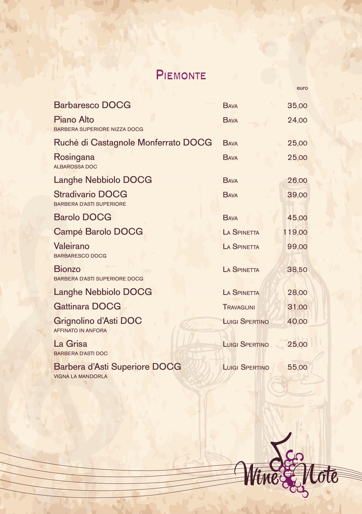 Wine note menu e vini A5-10