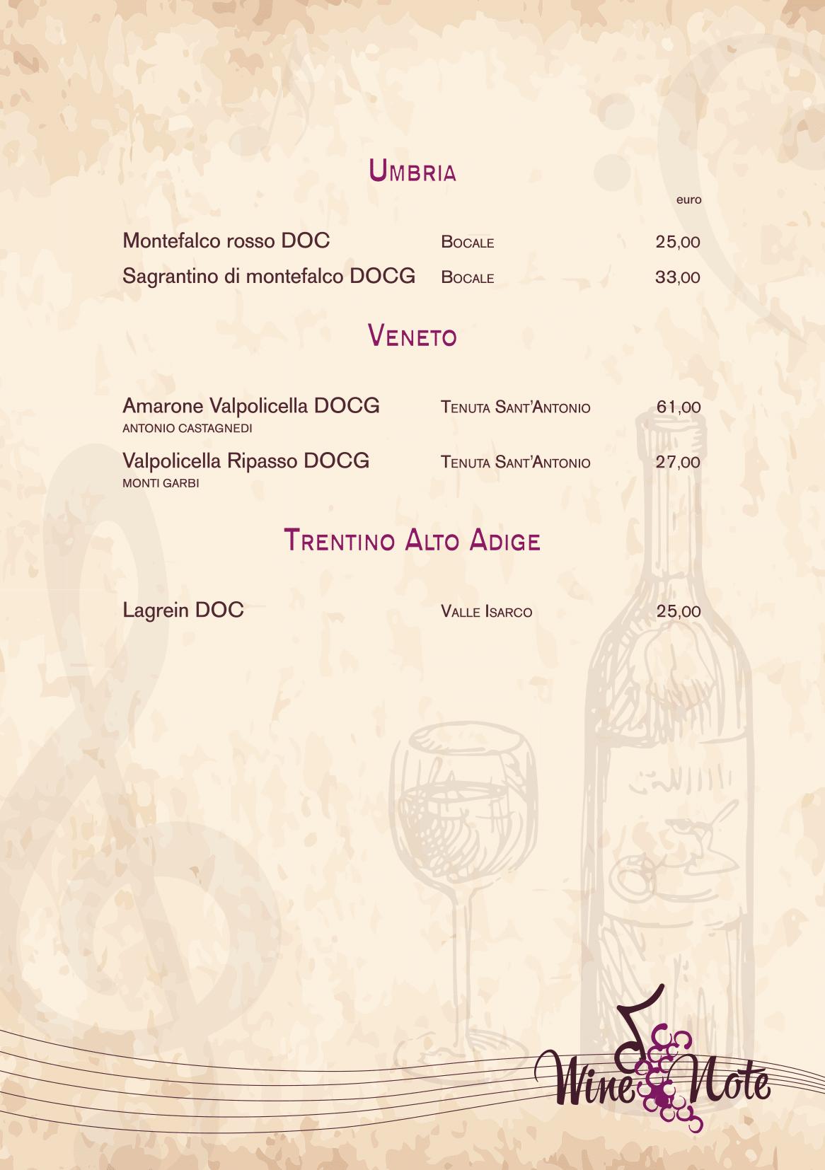 Wine note menu e vini A5-12